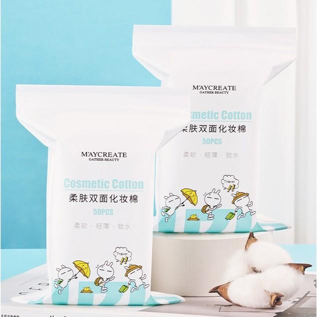 Gói 50 miếng bông tẩy trang Maycreate Sena Beauty