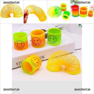 【YUANZHEN1】2Pcs Magic Plastic Rainbow Funny kids Classic Rainbow Circle Elasti