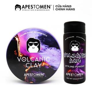 [COMBO] [CHÍNH HÃNG] Sáp Vuốt Tóc Volcanic Clay V4 ( Có Tem SMS ) + Bột tạo phồng Volcanic Ash Styling Powder 25g