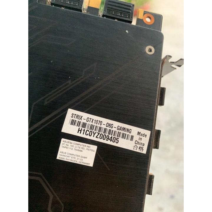 [Nhập ELCLMAY hoàn 30K xu đơn từ 200K]vga asus rog strix gtx 1070 8gb bảo hành hãng 6.2020