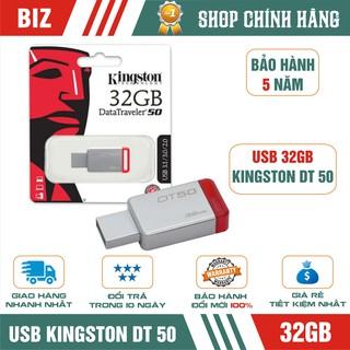 [Mã ELFLASH5 giảm 20K đơn 50K] USB Kingston DataTraveler DT50 32GB/16GB - Bảo hành 5 năm!!!
