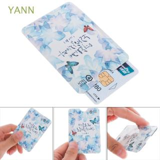 YANN 4PCS Safety Bank Anti-theft Credit Cards Aluminium Card Holder