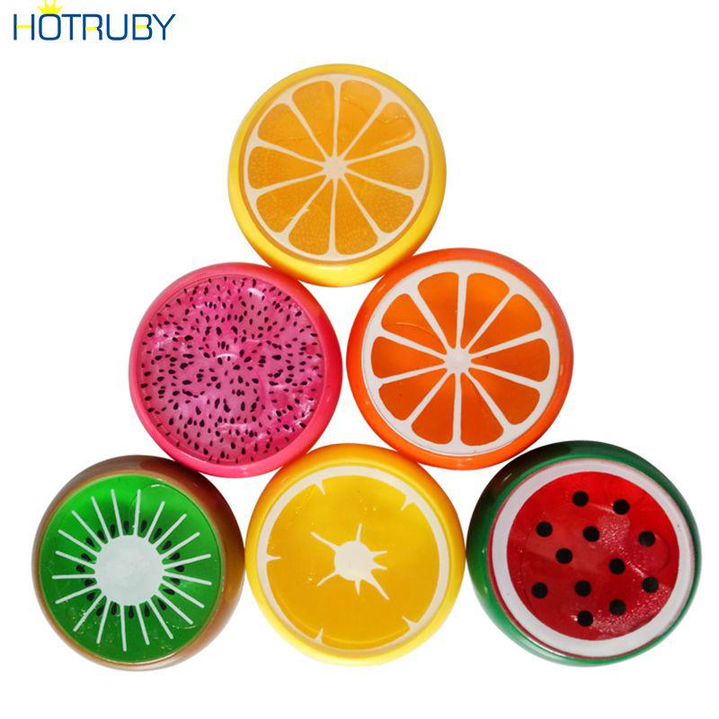 Kids Toys Crystal Fruit Colored Clay Mud Intelligent Hand Gum Slime HTVN