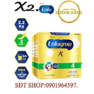 [HÀNG CHÍNH HÃNG 100%]Combo 2 Hộp Sữa Enfa A 4 2.2kg hộp giấy Date 10 .21