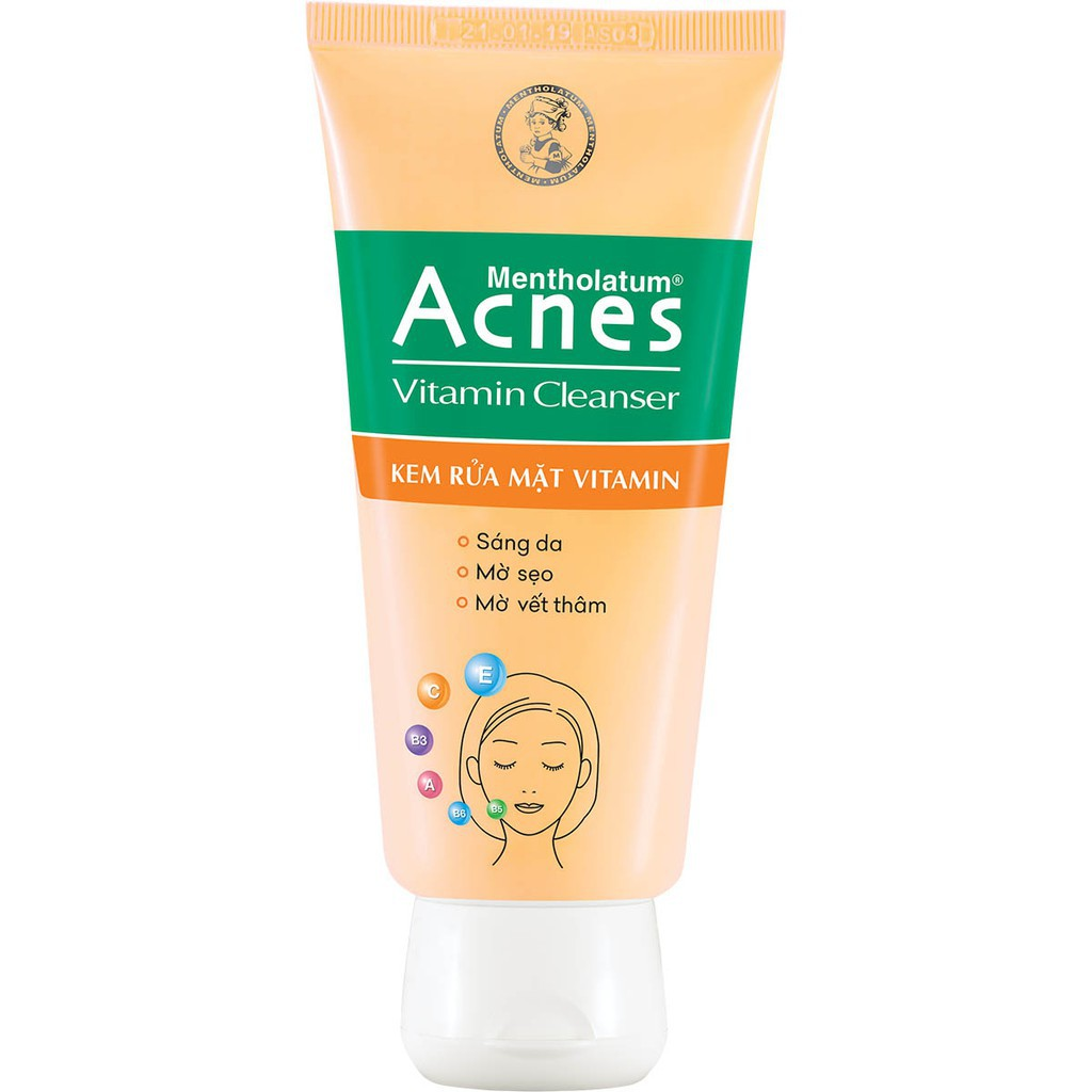 Kem rửa mặt sáng da mờ sẹo và vết thâm Acnes Vitamin Cleanser 100g - 21840205 , 2813775691 , 322_2813775691 , 74250 , Kem-rua-mat-sang-da-mo-seo-va-vet-tham-Acnes-Vitamin-Cleanser-100g-322_2813775691 , shopee.vn , Kem rửa mặt sáng da mờ sẹo và vết thâm Acnes Vitamin Cleanser 100g