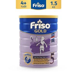 [Mã MKBCS01 hoàn 8% xu đơn 250K] Sữa bột Friso Gold 5 1,5kg (từ 4 tuổi trở lên) date 2022 thumbnail