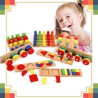 Bộ Giáo Cụ Montessori 8 Món Bằng Gỗ Cho Bé
