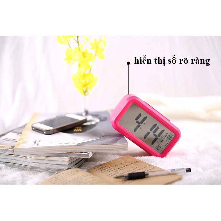 Đồng hồ báo thức để bàn mini thông minh đa chức năng DH89