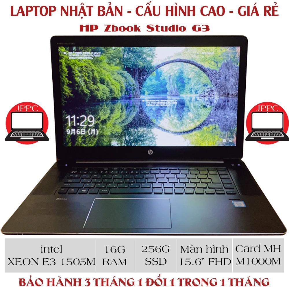 [Laptop Nhật] Laptop Cũ WorkStation HP Zbook Studio G3 - Xeon E3 1505M - Ram 16G - SSD 256G - Card mh M1000M