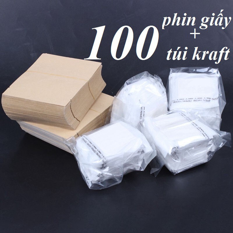100 phin giấy + 100 túi kraft