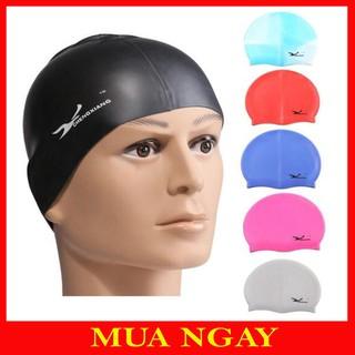 Mũ Bơi Silicon Cao Cấp, Mũ Bơi Thể Thao Thời Trang, Mũ Bơi Chống Nước Thể Thao MB01 thumbnail