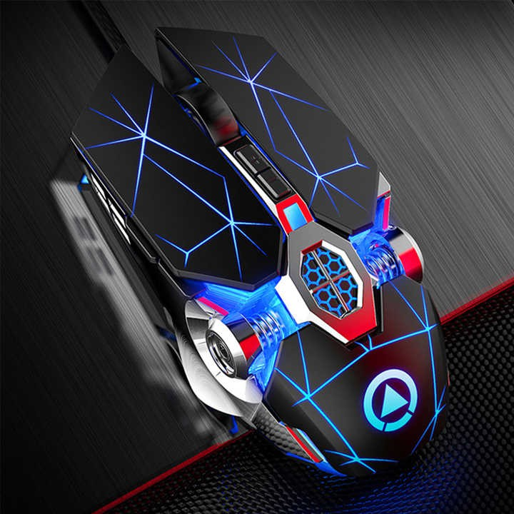 Chuột chơi game có dây G3OS với hai nút tăng giảm độ phân giải, hiệu ứng Led 7 màu, chống ồn hiệu quả