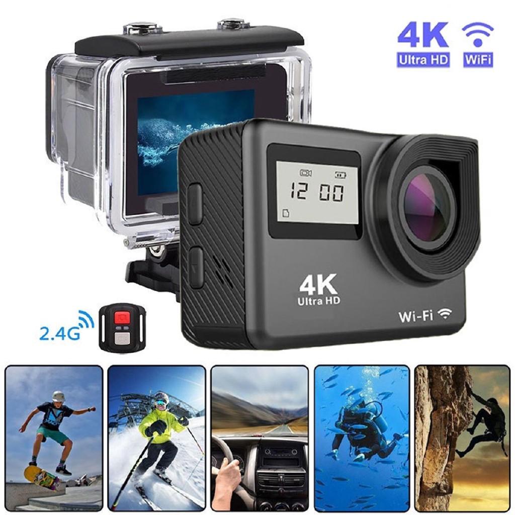 Camera hành trình chống thấm nước hiển thị độ phân giải 4K kết nối wifi 12MP