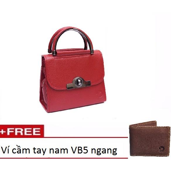 Túi xách đeo chéo nữ khóa tròn MS8 đỏ tặng kèm Ví cầm tay nam VB5 ngang màu nâu - 3125975 , 1089513997 , 322_1089513997 , 222000 , Tui-xach-deo-cheo-nu-khoa-tron-MS8-do-tang-kem-Vi-cam-tay-nam-VB5-ngang-mau-nau-322_1089513997 , shopee.vn , Túi xách đeo chéo nữ khóa tròn MS8 đỏ tặng kèm Ví cầm tay nam VB5 ngang màu nâu