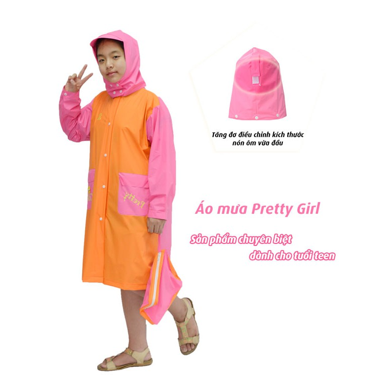Áo Mưa trẻ em Rando Pretty Girl _ÁO MƯA TRẺ EM RANDO