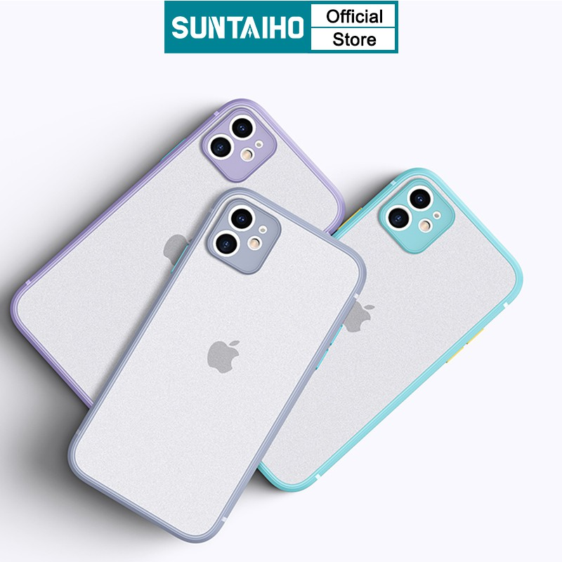 SUNTAIHO Candy Color Camera Lens Protection Matte PC Hard Phone Case For iPhone 6s 6 7 8 Plus iPhone SE 2020 11 Pro Max XR X XS MAX