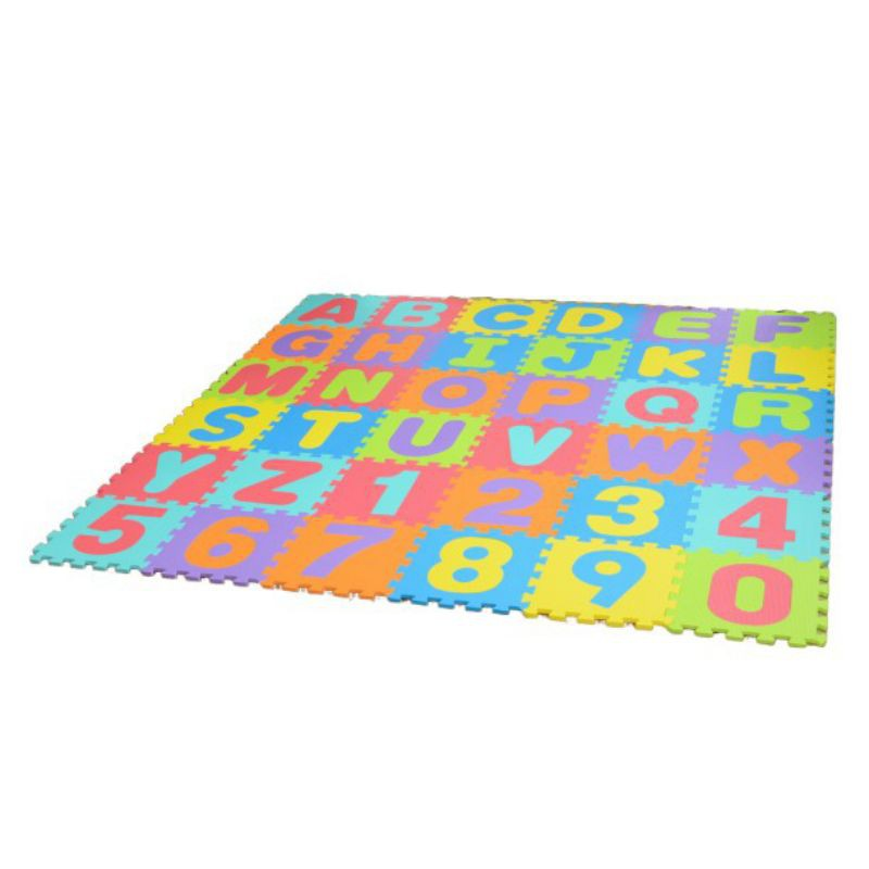 bộ 36 thảm xốp chữ cái và số 32×32cm×1cm