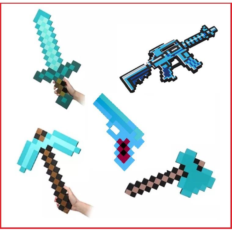 Combo kiếm cúp rìu súng m14 Minecraft diamond