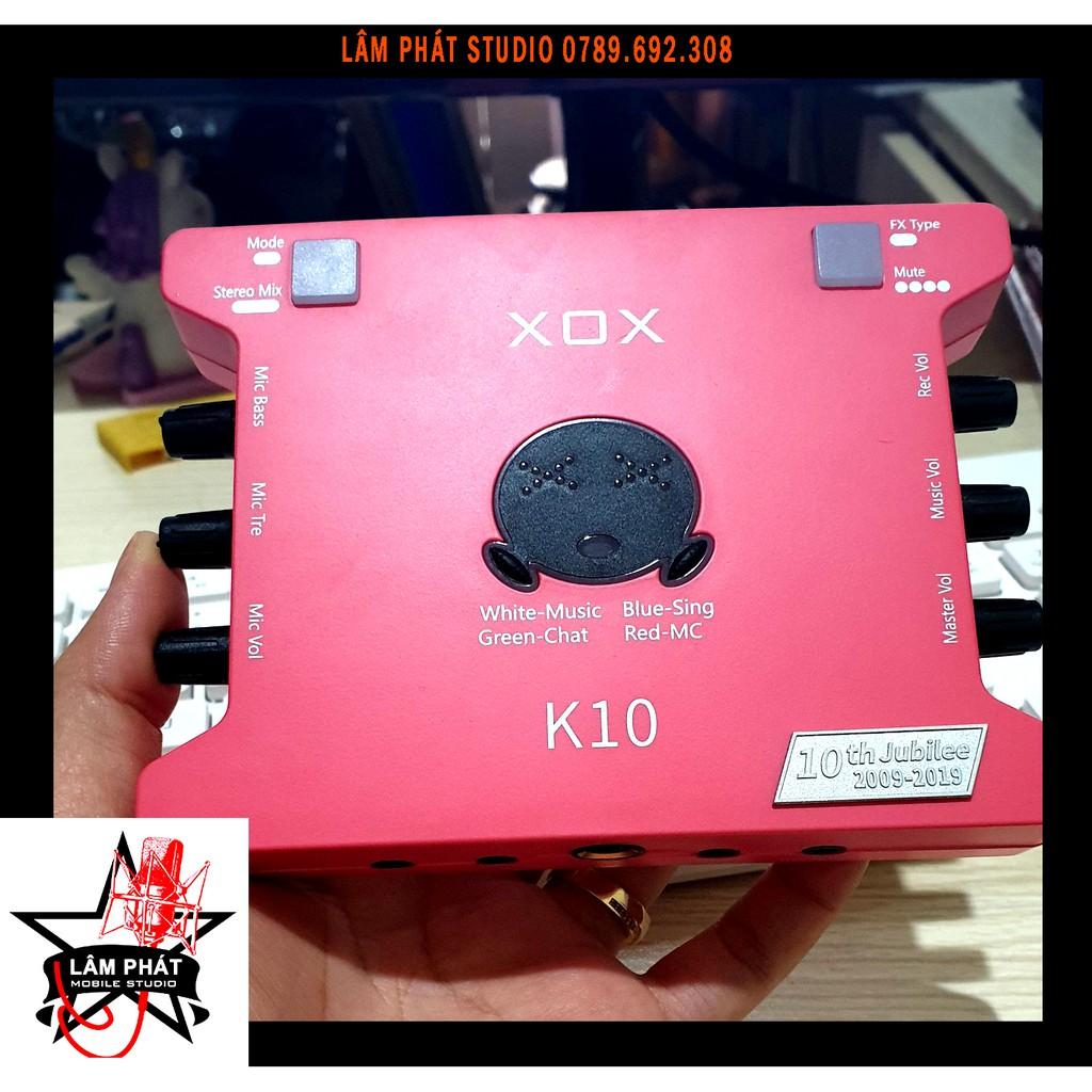 Sound card XOX K10Phiên Bản Tiếng Anh - Kỷ Niệm 10 Năm Thành Lập Thương Hiệu XOX - Phiên Bản Giới Hạn