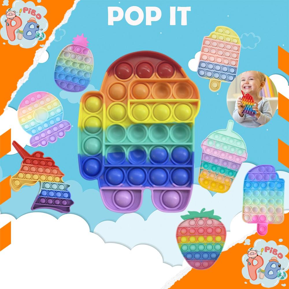 Pop It Đồ Chơi Bóp Bong Bóng Giải Tỏa Stress Bằng Silicon > 20 Mẫu Mã – PiBo