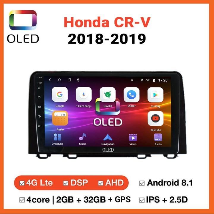 [Chính hãng OLED] MÀN HÌNH DVD Ô TÔ ANDROID HONDA CRV 2018-2019 CẮM SIM 4G, MUA 1 TẶNG 1