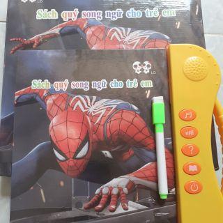 Sách nói song ngữ anh – việt người nhện cho bé trai