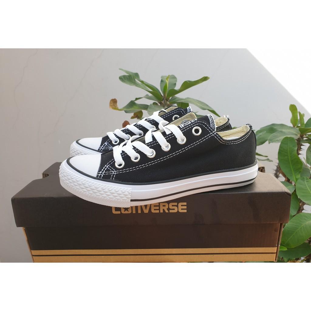 giày thể thao vải màu đen_tặng hộpảnh thật 100%