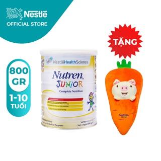 Sữa Bột Nestle Nutren Junior 800g [Tặng 1 Gối Ôm Cà Rốt]