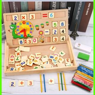 Bảng gỗ toán học thông minh phát triển trí tuệ cho bé [ SP039331] – Đồ dùng trẻ em