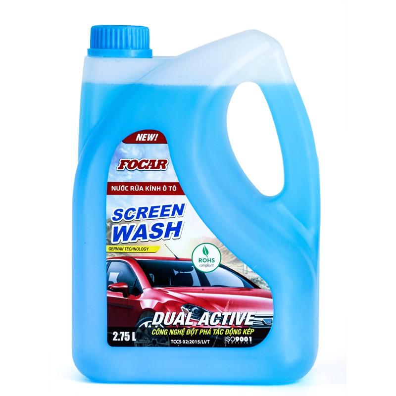 Nước rửa kính xe hơi Focar Screen wash 2,75L (Dùng trong 3-6 tháng)