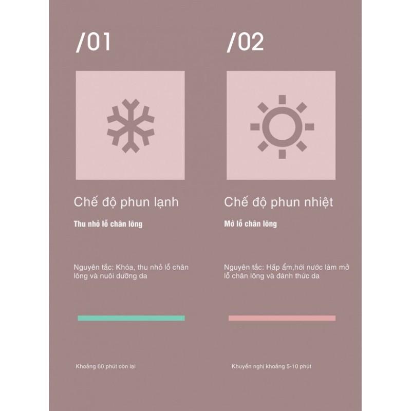 Máy Xông Hơi Mặt Nóng Lạnh Thông Minh Cao Cấp MKS-6 chế độ xông, công nghệ xông nano ion