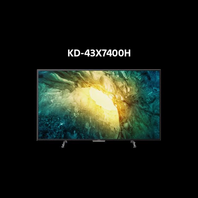 [Mã ELMALL1TR giảm 5% đơn 3TR] Android Tivi Sony 4K 43 Inch KD-43X7400H - Miễn phí lắp đặt