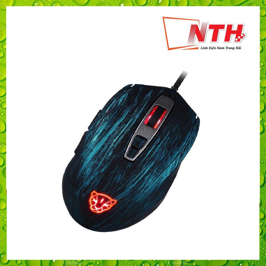 CHUỘT MOTOSPEED V60 (A3050) RGB Gaming mouse có LED thay đổi theo DPI Xanh, đỏ, đen