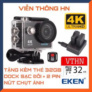 Camera hành trình 4k Eken H9r bản mới V8 nâng cấp 20MP tặng 2 pin + 1 dock sạc đôi - Tặng thẻ 32GB - vienthonghn thumbnail