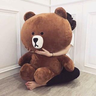 [Nhập mã TOYOCT giảm 10% tối đa 15K đơn từ 50K]( Rẻ vô địch ) Gấu bông cao cấp Brown khổ vải 1m4 Cao 1m2
