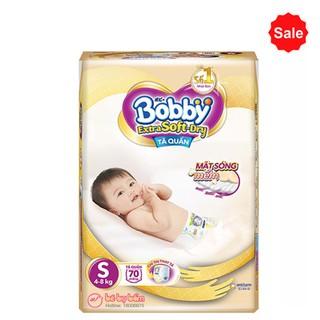 (Ke m qua )Bỉm quần bobby Extra Soft Dry S70 M64 L56 XL50