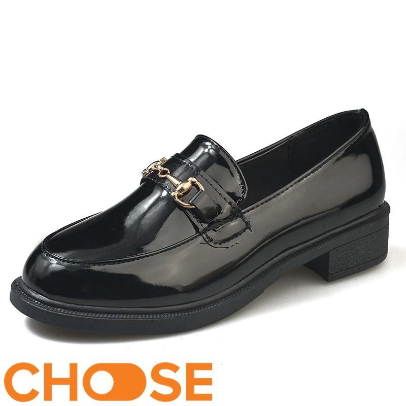 Giày Nữ Oxford Giày Mọi Choose Trang Trí Khuy Vàng Đẹp Sang Trọng