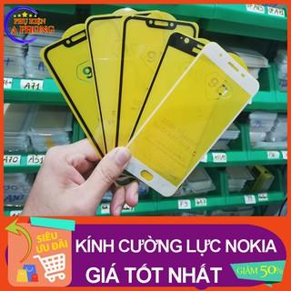 [Gía Sỉ] Kính cường lực Full Màn Nokia các dòng 2.1, 3.1, 3.2, 7.2, 8.1, X5, X6, X7, 5.1 Plus, 6.1 plus keo bền giá rẻ