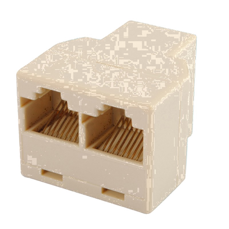 RJ45 CAT 5 6 LAN Ethernet Splitter Connector Adapter PC