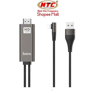 Cáp chuyển Lightning sang HDMI Hoco UA14 wire 1080P HD, dài 2M, chân chữ L (Đen) - Hãng phân phối