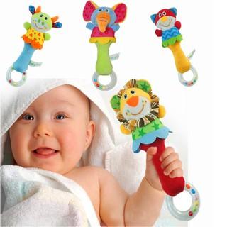 【hot sale】22CM Developmental Animal Soft Stuffed Infant Baby Plush Toys Rattles Kids