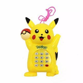 Đồ chơi điện thoại Pikachu hoặc Hello Kitty có dây đeo cổ cho bé (kèm 2pin)