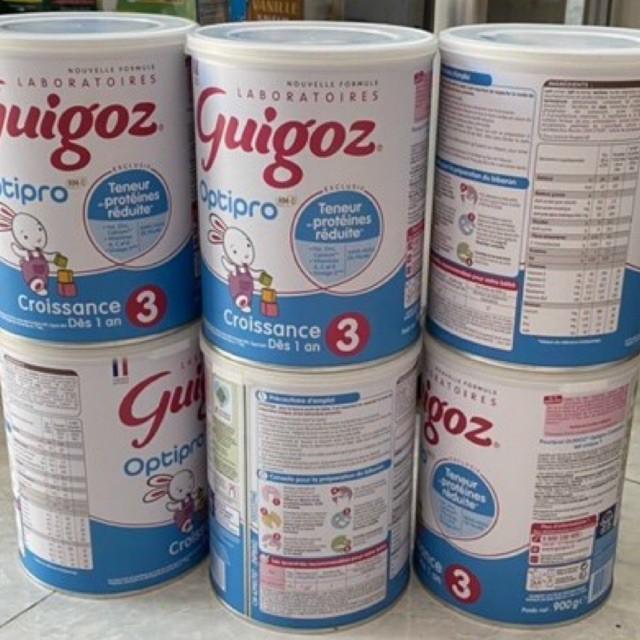 sữa công thức guigoz3 lon 900gr ( lon móp do vận chuyển )