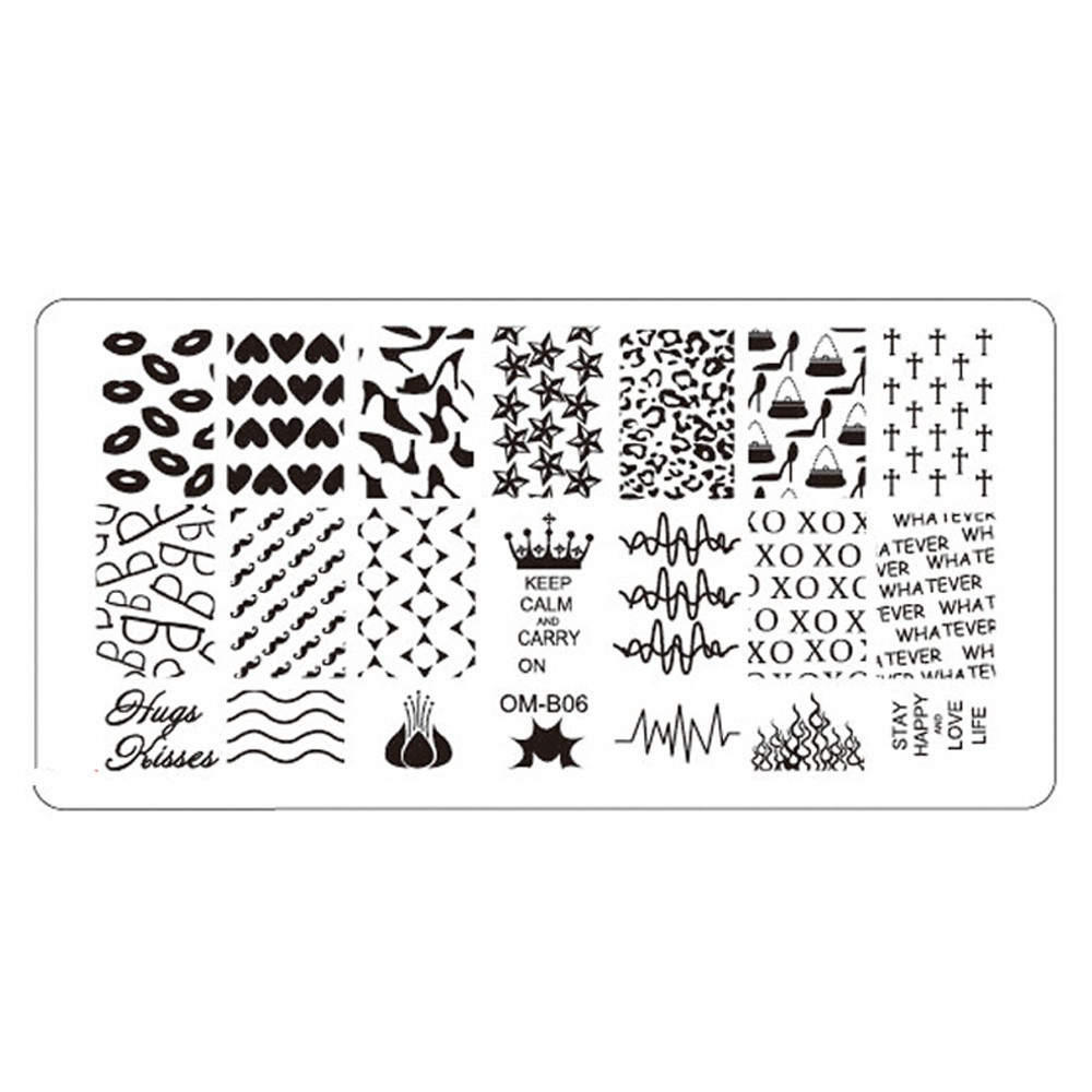 qqline0 1Pc Nail Art Image Stamping Plates Manicure Stamp Template DIY Template Tool