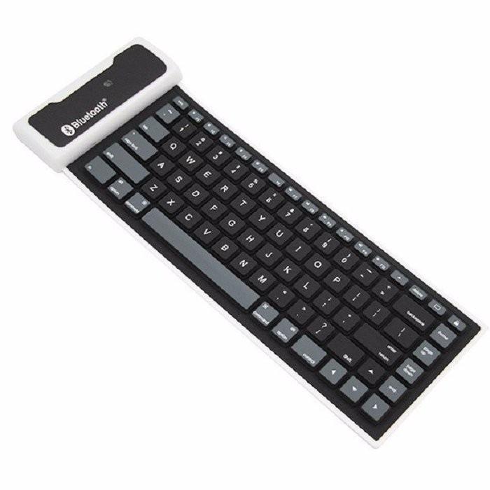 Bàn phím Bluetooth nhựa dẻo chống thấm nước (Đen) -DC958 - 2638121 , 1318464298 , 322_1318464298 , 218900 , Ban-phim-Bluetooth-nhua-deo-chong-tham-nuoc-Den-DC958-322_1318464298 , shopee.vn , Bàn phím Bluetooth nhựa dẻo chống thấm nước (Đen) -DC958