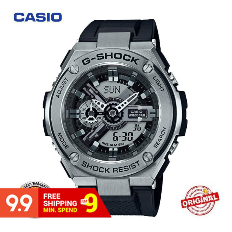 【Ready Stock Casio G-Shock GST400 GST410 Men Sport Quartz Watch GST-410