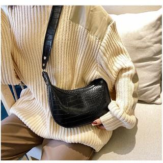 Túi đeo vai nữ túi kẹp nách đeo chéo nữ thời trang da vân cá sấu style Hàn Quốc Hottrend TKNA01+ hình thật