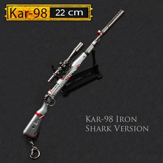 Mô Hình Kar98 Pubg Iron Shark 22cm Có Thể Tháo Lắp , Kar98 22cm Tặng Kèm Giá Đỡ Trưng Bày