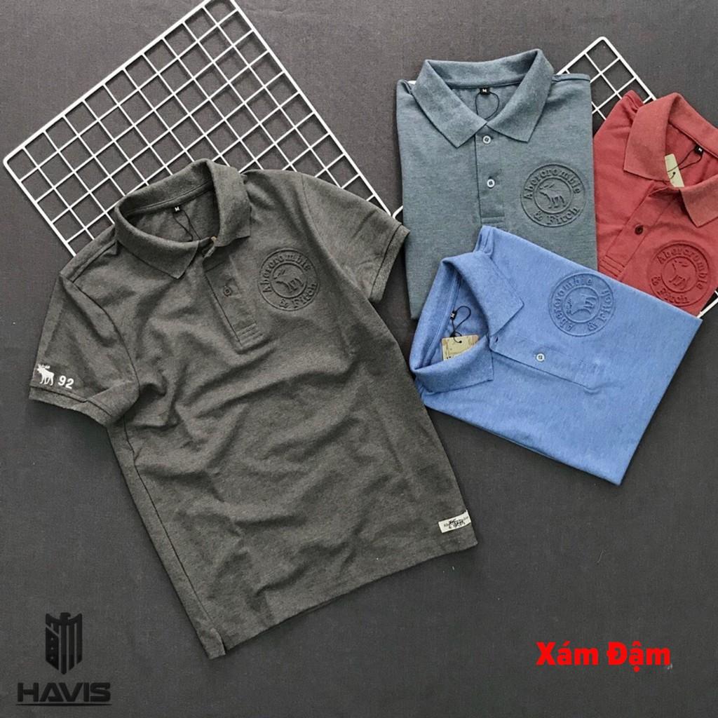 Áo thun nam Havis tay ngắn logo dập nổi cao cấp AXK012 ( nhiều màu )