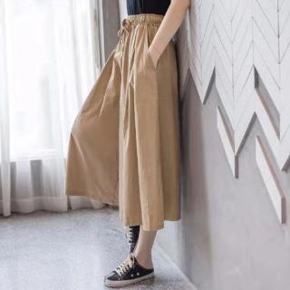 Quần Giả Váy Ống Rộng Vải Cotton Thời Trang Xuân Hè 2020 Cho Nữ